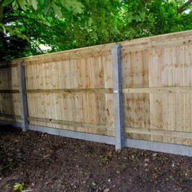 Concrete close-board fence