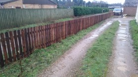 Picket fencing in Diss