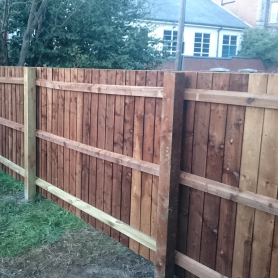 Hand built close-board fence, Felixstowe
